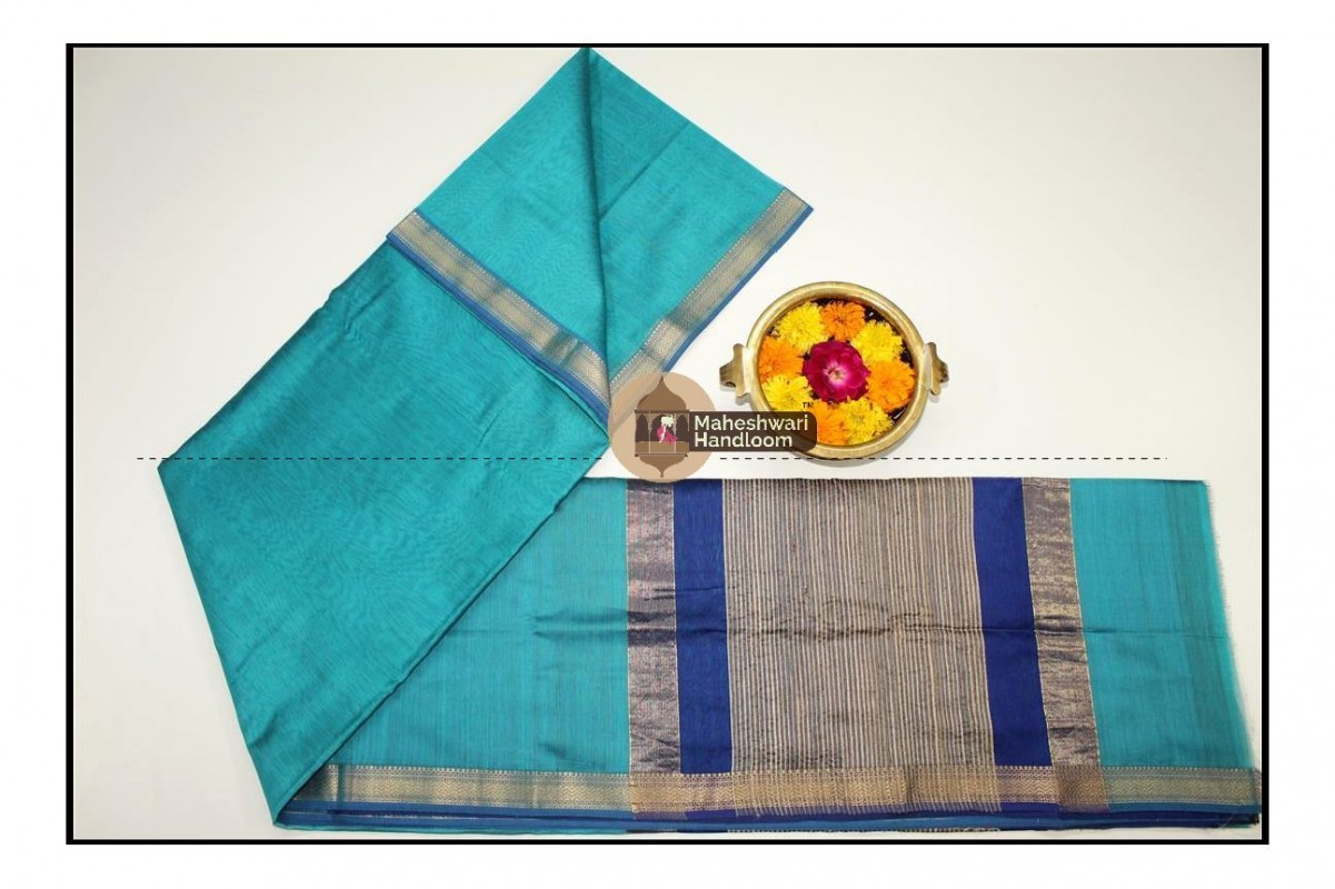 Maheshwari Sea Green Gicha Pallu Saree