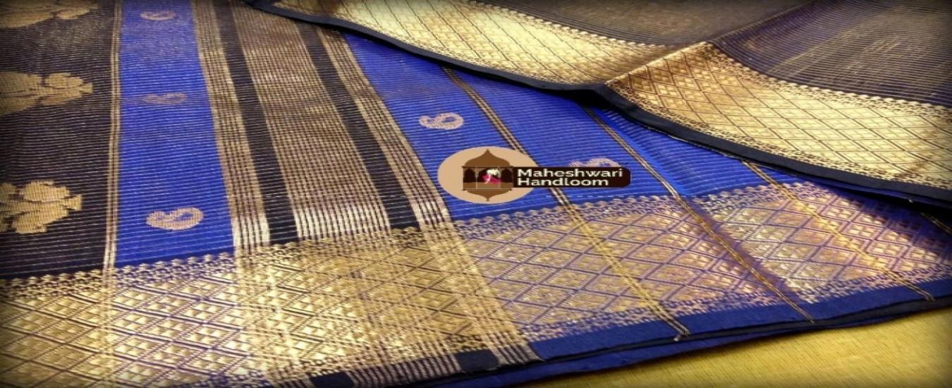 Maheshwari Handloom Silk Saree manufacturer