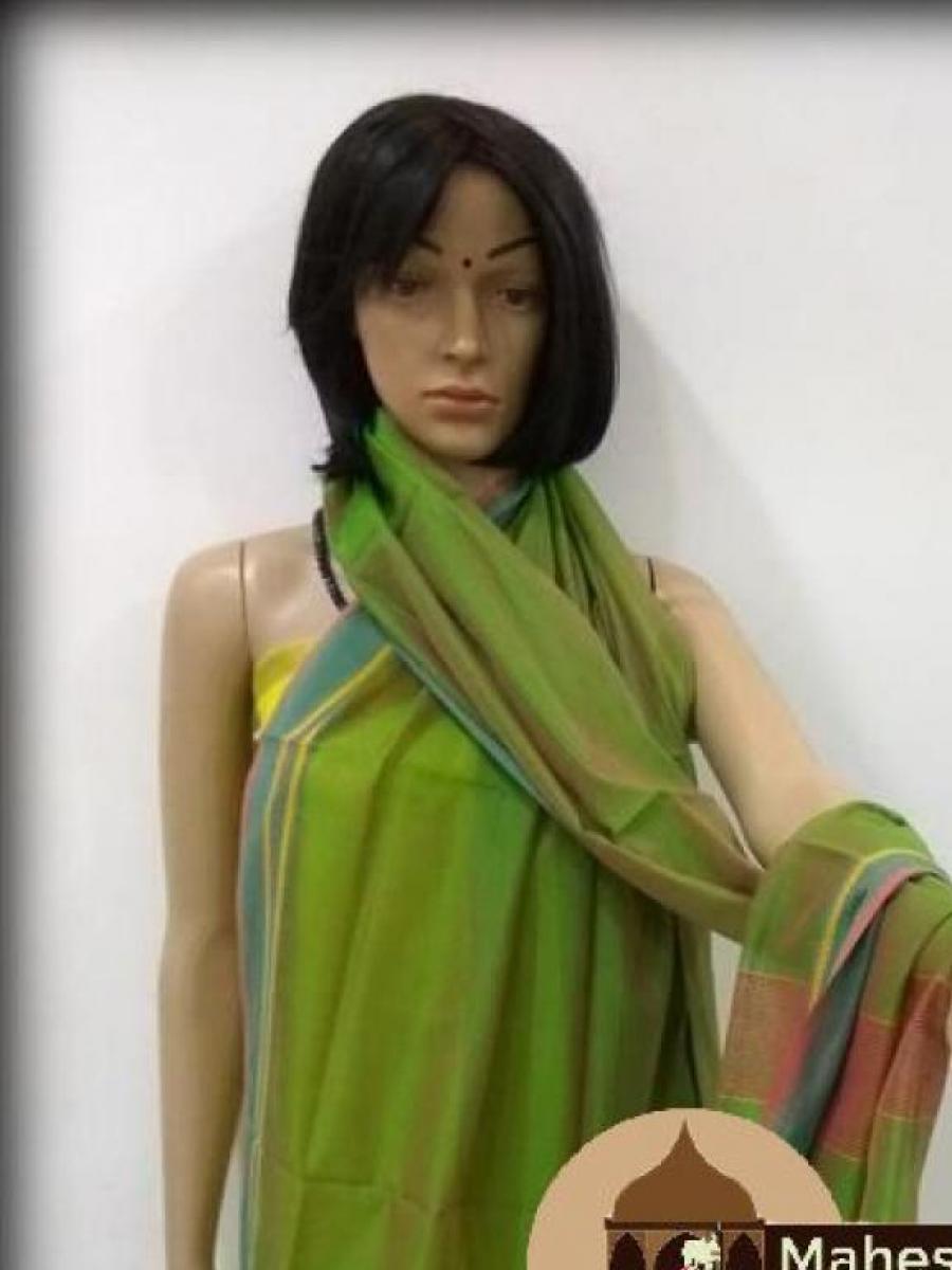 Maheshwari Green Dupatta
