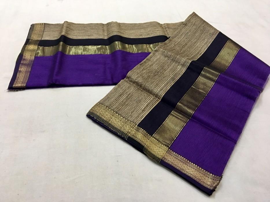 Maheshwari Purple Gicha Pallu Saree