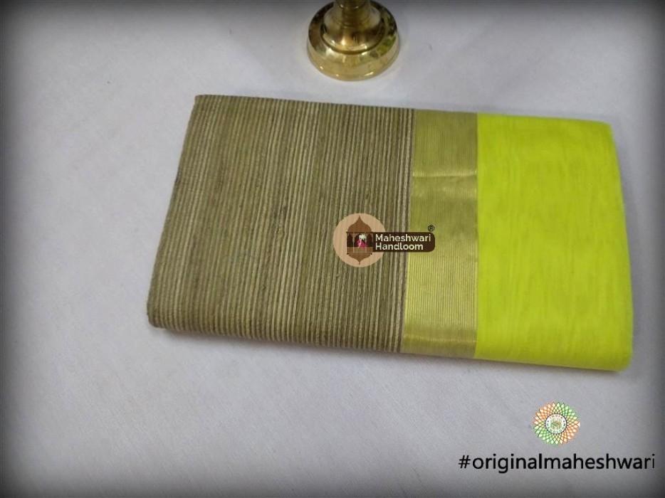 Maheshwari Light Green Gicha Pallu Saree