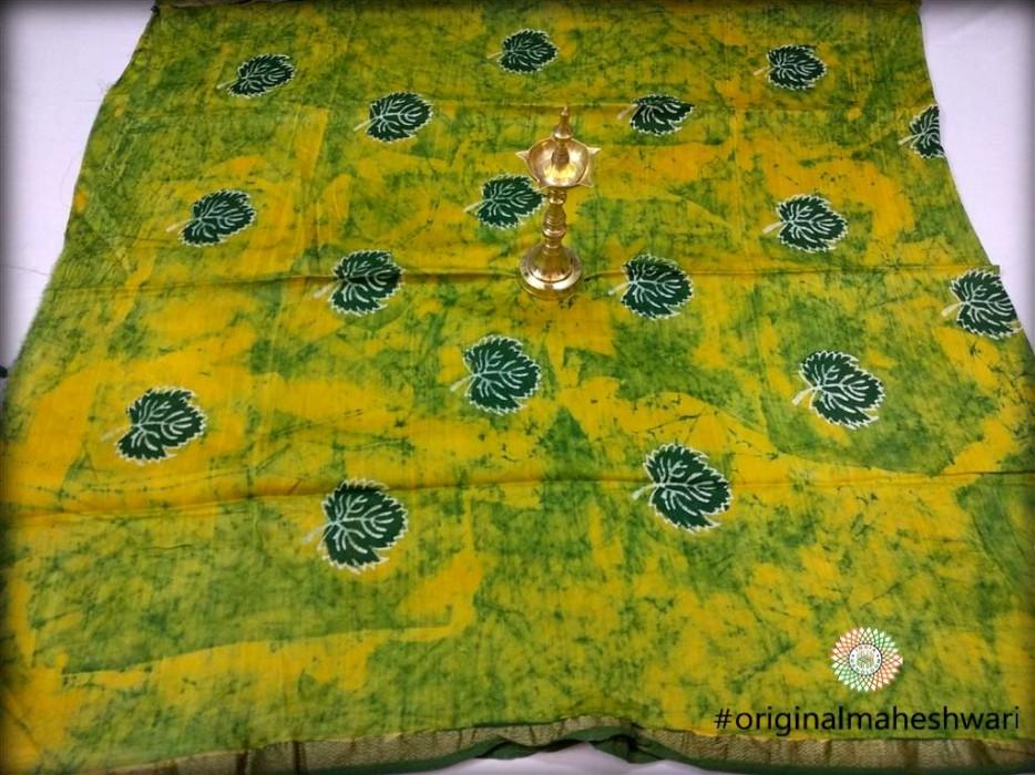 Maheshwari Green Printed Kurti material