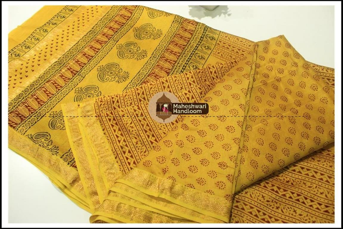 Maheshwari Mehandi Green  Bagh print Silk Cotton Suits