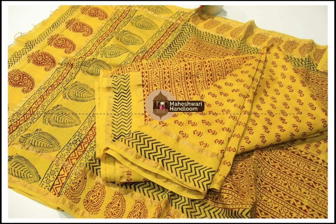 Maheshwari MehandiGreen Bagh print Silk Cotton Suits