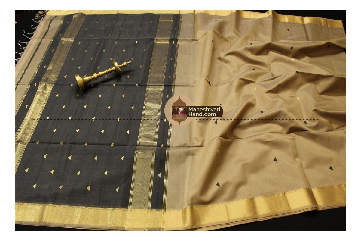 Maheshwari Tussar Tringle Buti Weaving saree