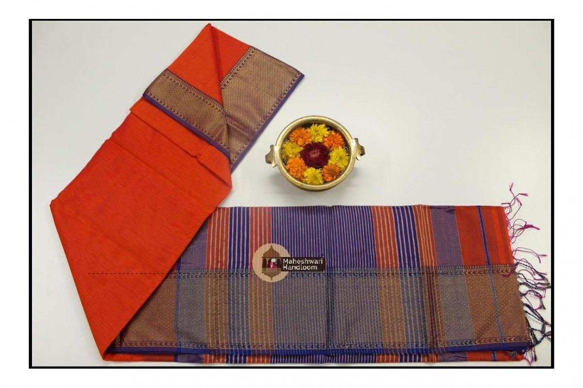 Jari Dimond Chatai Border Saree